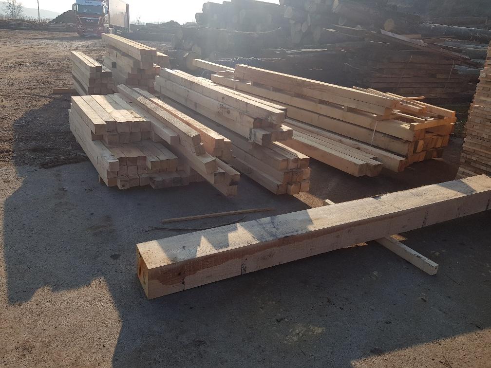 oak square timber, Kantholz aus slawonischer Eiche - Imperius woodtrading