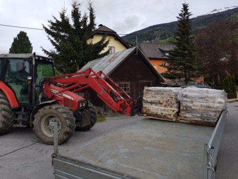 Sägebrennholz anfallende Längen, saw firewood Imperius woodtrading